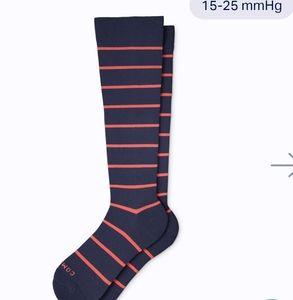 NWT Comrad striped Compression socks